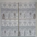 4 Ceramic Coasters in Laura Ashley Christmas Houses
